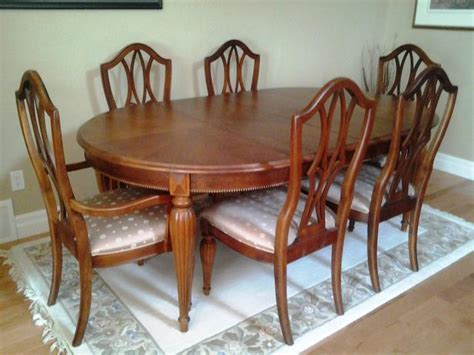 solid cherry wood dining table chairs comox comox valley