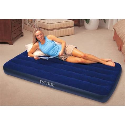 airbed air mattress portable cing up bed intex size ebay
