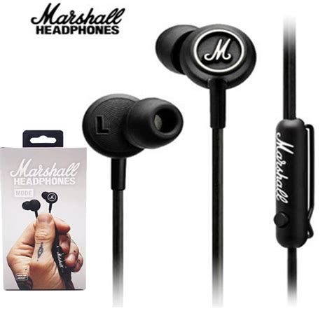 Handset Marshall Mode Earphones for iphone marshall mode headphones in ear headset black earphones with mic hifi ear buds
