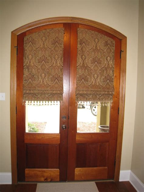 Glass Front Door Shades Custom Window Treatments Traditional Entry New Orleans By Gray Home Decor Window