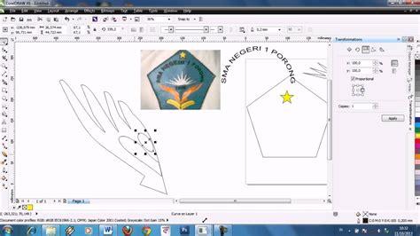 tutorial corel draw x6 youtube tutorial corel draw x6 logo sman 1 porong youtube