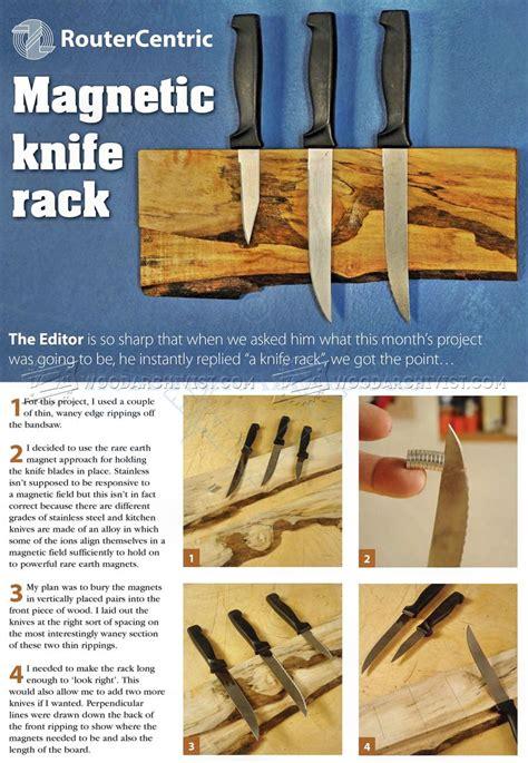 diy magnetic knife holder woodarchivist