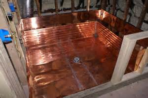 copper shower pans roofs chimney caps thru flashings