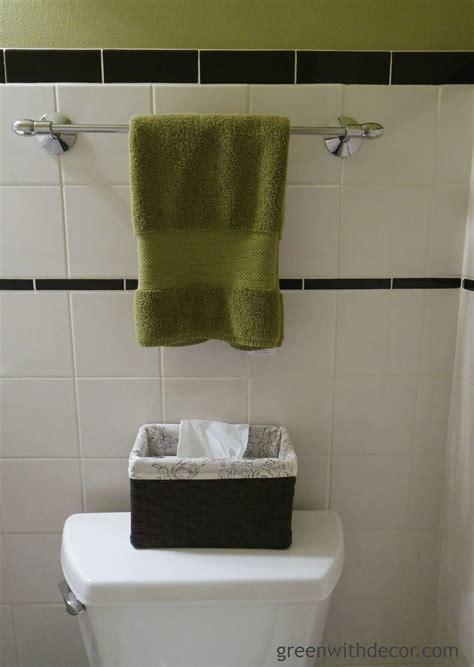 towel room green with decor bathroom reveal powder room