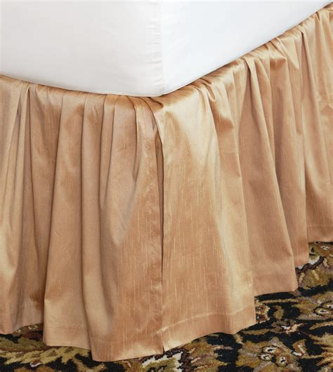 gold bed skirt marquise luxury bedding by eastern accents edris gold