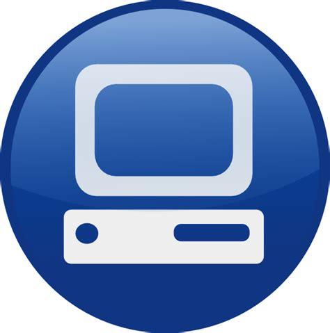 blue computer desk blue computer desktop clip at clker vector clip