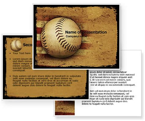 american baseball powerpoint template poweredtemplate