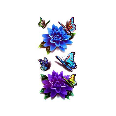 tatouage papillon tatouage fleur tatouage ephemere fleur