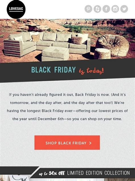 lovesac black friday lovesac it s officially still black friday milled