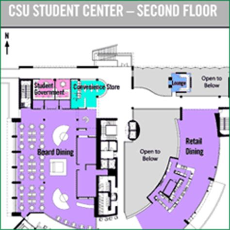 student center floor plan floor plans the student center cleveland state university
