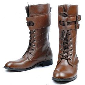 mens knee high lace up boots s shoes knee high boots cool britpop detachable