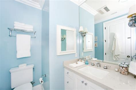 Cabana Bathroom Ideas Powder Blue Bathroom Contemporary With Wood Molding Damp