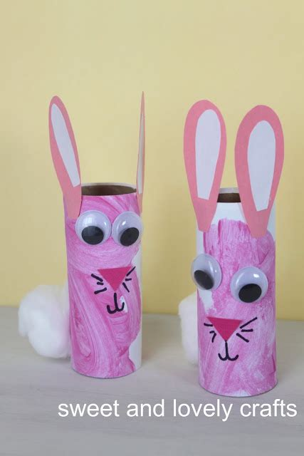 Bunny Toilet Paper Roll Craft - sweet and lovely crafts toilet paper roll bunnies