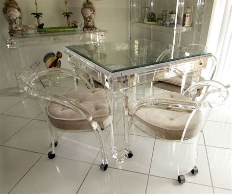 lucite dining table and chairs discover out lucite dining table desmetoxbow decor