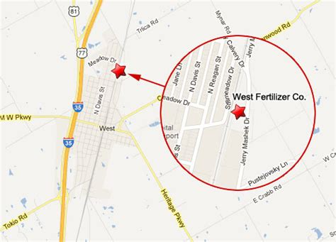 west texas explosion map waco fertilizer explosion in west texas dozens killed