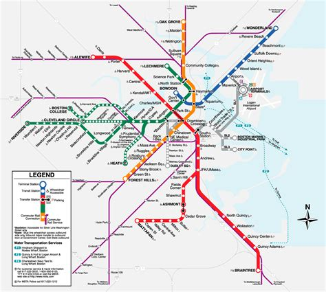 printable map boston boston t map free printable maps