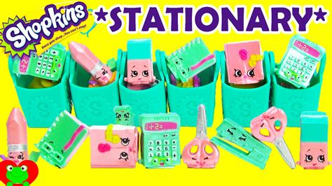 Stationery Pack Karakter 2 Limited shopkins season 3 unboxing 6 12 packs with polished pearl