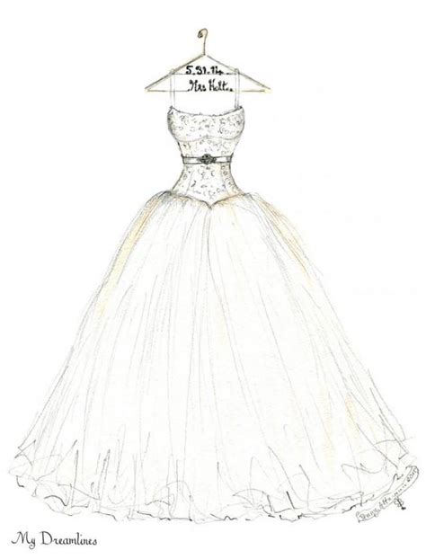 Brautkleider Zeichnen by Groom Wedding Dress Sketch By Dreamlines 2368448 Weddbook
