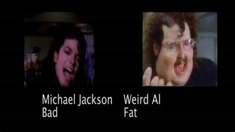 michael jackson biography for beginners michael jackson bad vs weird al fat youtube