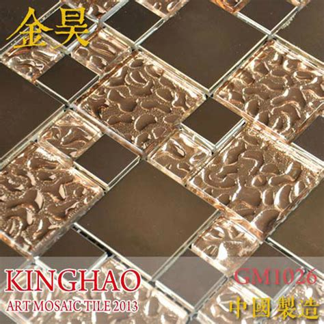 sle copper metal pattern textured glass mosaic tile china kinghao copper metal pattern textured glass mosaic