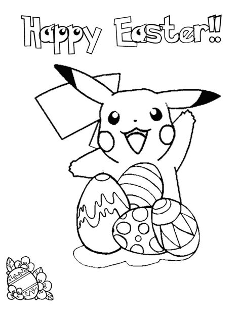 pikachu easter coloring page h m coloring pages