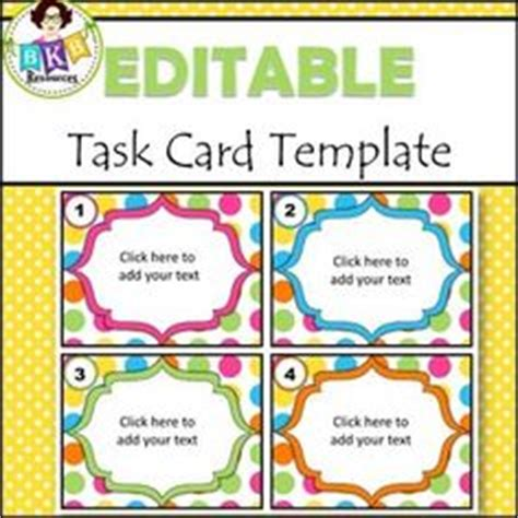 task card template pdf save time with this task card template it is already set