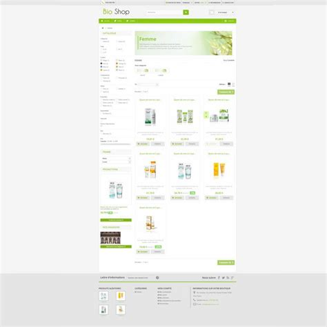 presta shop templates bioshop prestashop template