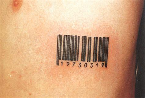 elegant barcode tattoo meaning design tattoomagz