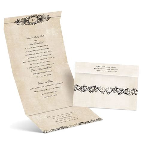 rustic send and seal wedding invitations rustic elegance seal and send invitation s bridal