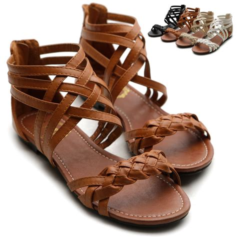 gladiator womens sandals ollio womens sandals gladiator strappy zip closure multi
