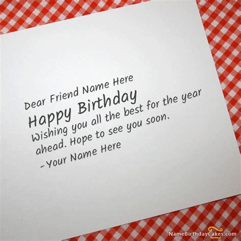 birthday cards with name editor