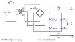 Computer Psu To Bench Supply 40v Dual Power Supply Electronic Circuits And Diagram
