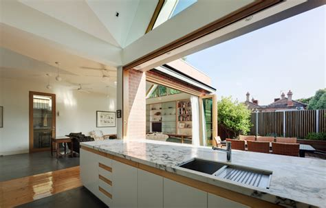 Indoor Outdoor Kitchen Designs Basser House Contemporary Kitchen Melbourne By Mihaly Slocombe