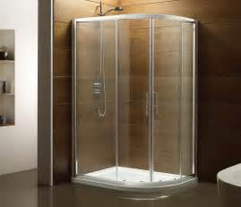 bathroom holcam built in quarter circle glass shower