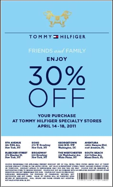 tommy hilfiger outlet printable coupons