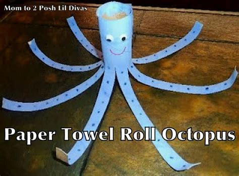 Crafts Made From Paper Towel Rolls - paper towel roll octopus kid crafts
