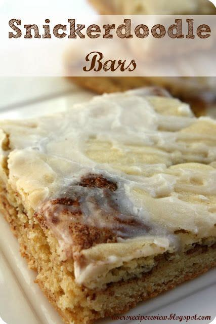 snickerdoodle signs snickerdoodle bars bar and recipe on