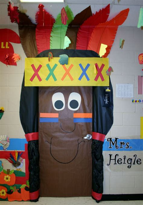 Thanksgiving Classroom Door Decorations by Indian Boy Classroom Door Decoration School Supply Management Thanksgiving