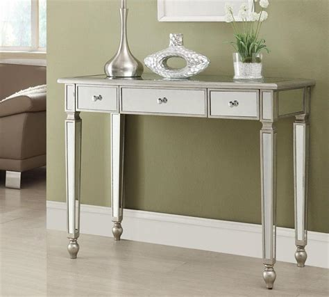 accent console tables laura mirrored console table