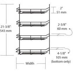 Spice Rack Dimensions cabinet organizers kitchen cabinet wire door mount spice rack by rev a shelf kitchensource