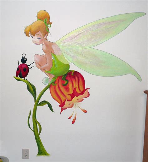 tinkerbell and friend mural tinkerbell murals friends and tinkerbell