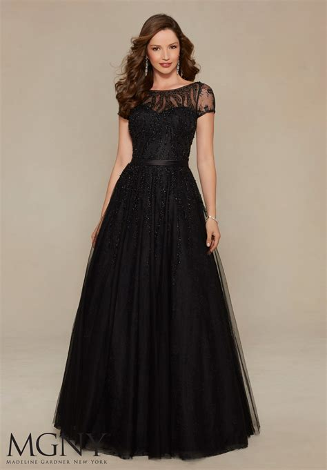 Evening Gown chantilly lace evening dress style 71328 morilee