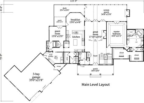 2 Bedroom, 2 Bath Cabin & Lodge House Plan   #ALP 0A1U