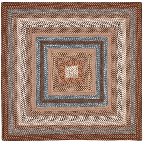 safavieh braided multi 8 ft x 8 ft safavieh braided brown multi 8 ft x 8 ft square area rug brd313a 8sq the home depot