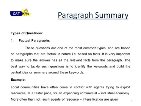 paragraph summary ii for cat cet snap by cat classes in