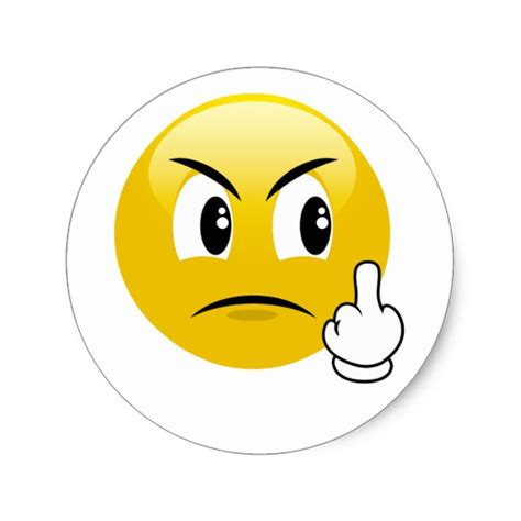 Middle Finger Sticker