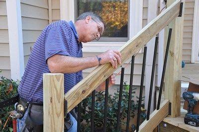 install deck stair railings deckscom