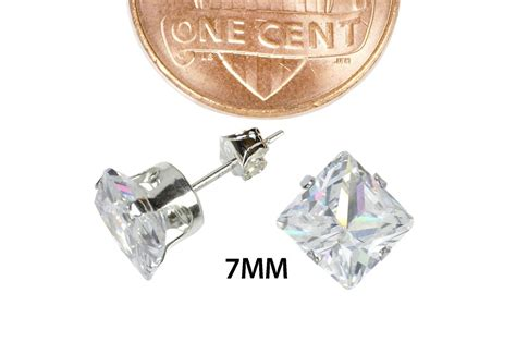 Diskon Cubic Zirconia Grade A6 Best Grade 8mm sterling silver cubic zirconia earrings jewelryland