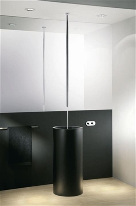 canali ceiling spout with remote wallmounted mixing