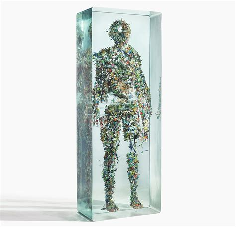 designboom dustin yellin dustin yellin confines collaged figures in layers of glass